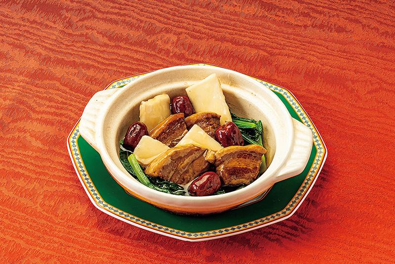 とやまポークと山薬の煮込み 季節の野菜添え