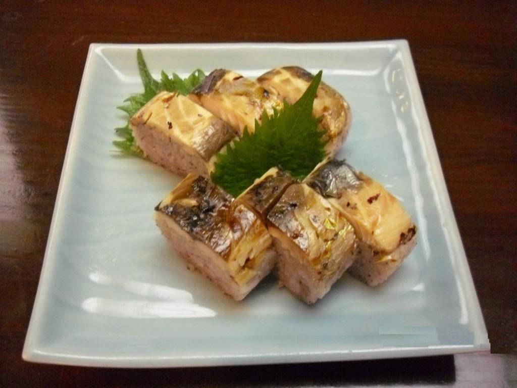 焼き鯖の香味棒寿司